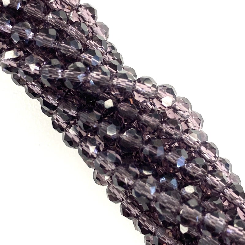 "Bead World ""Purples"" 4mm Round Crystal Faceted Beads 144 Beads/Strand"