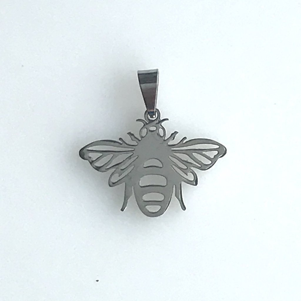 Bead World Large Bee  Stainless Steel  18.5x24.7mm