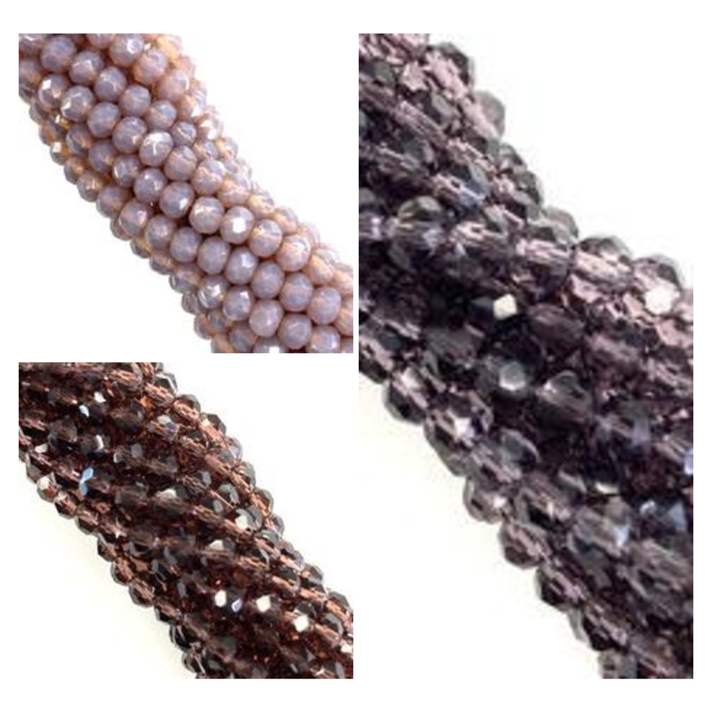 """Bead World """"Purples"""" 4mm Round Crystal Faceted Beads 144 Beads/Strand"""