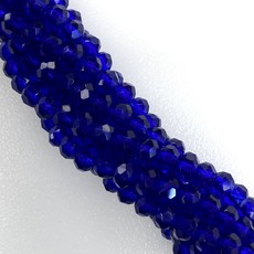 """Blues""  4mm  Round Crystal Faceted Beads - 144 pcs/Strand"