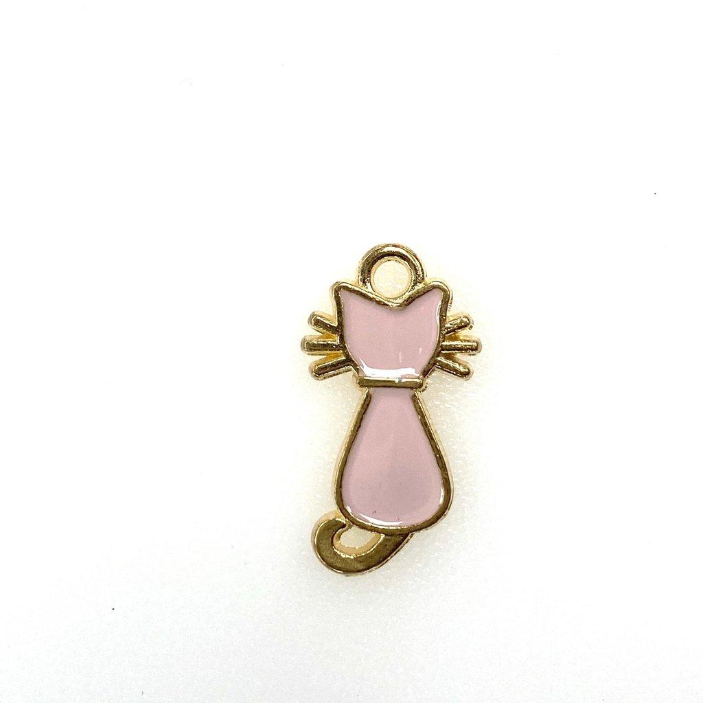 Bead World Cat Enamel - Light Pink 12mm x 20mm 3 pcs.