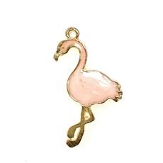Bead World Flamingo Enamel- Light Pink  24mm x 35mm  3pcs.