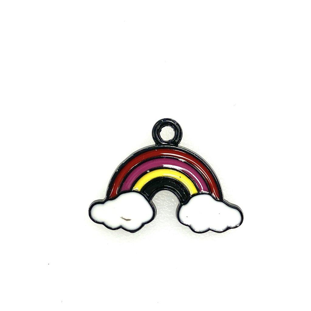 Bead World Rainbow/Cloud Enamel 24mm x 16mm 3pcs.