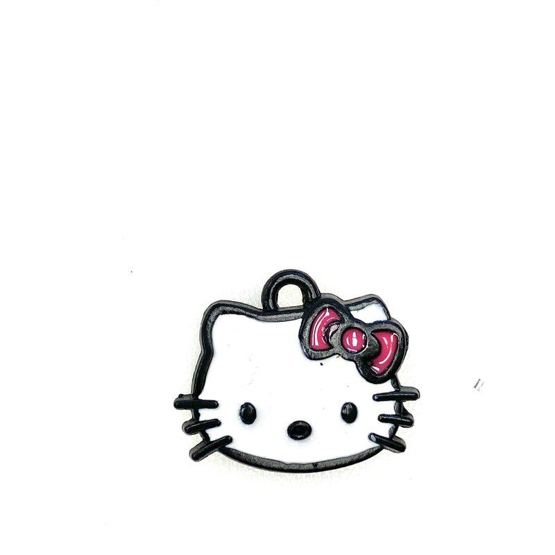 Bead World Hello Kitty  Enamel - 20mmx 17mm 2pcs