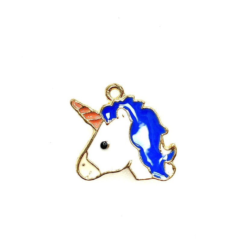 Bead World Unicorn Head Enamel 20mm x 22mm 3pcs.