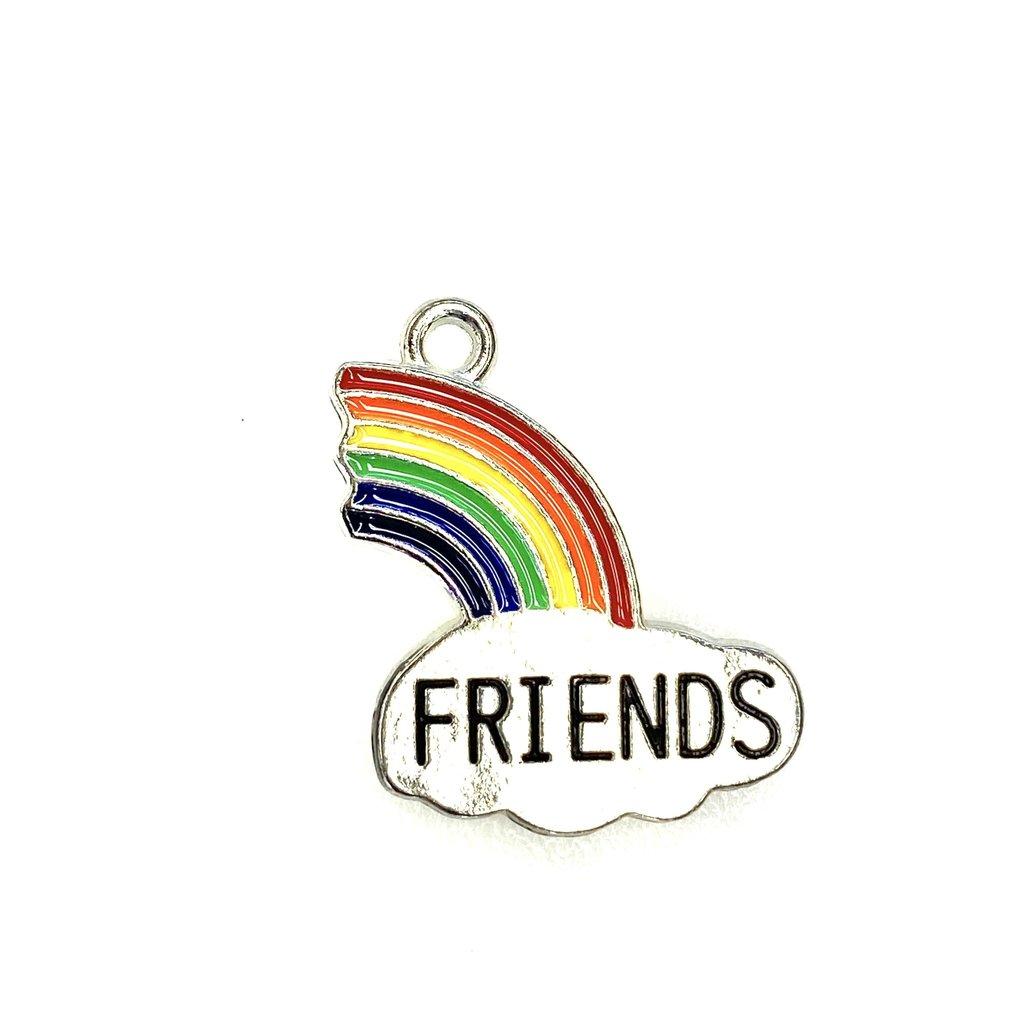 Bead World Rainbow -FRIENDS  Enamel 20mm x 25mm 3pcs.