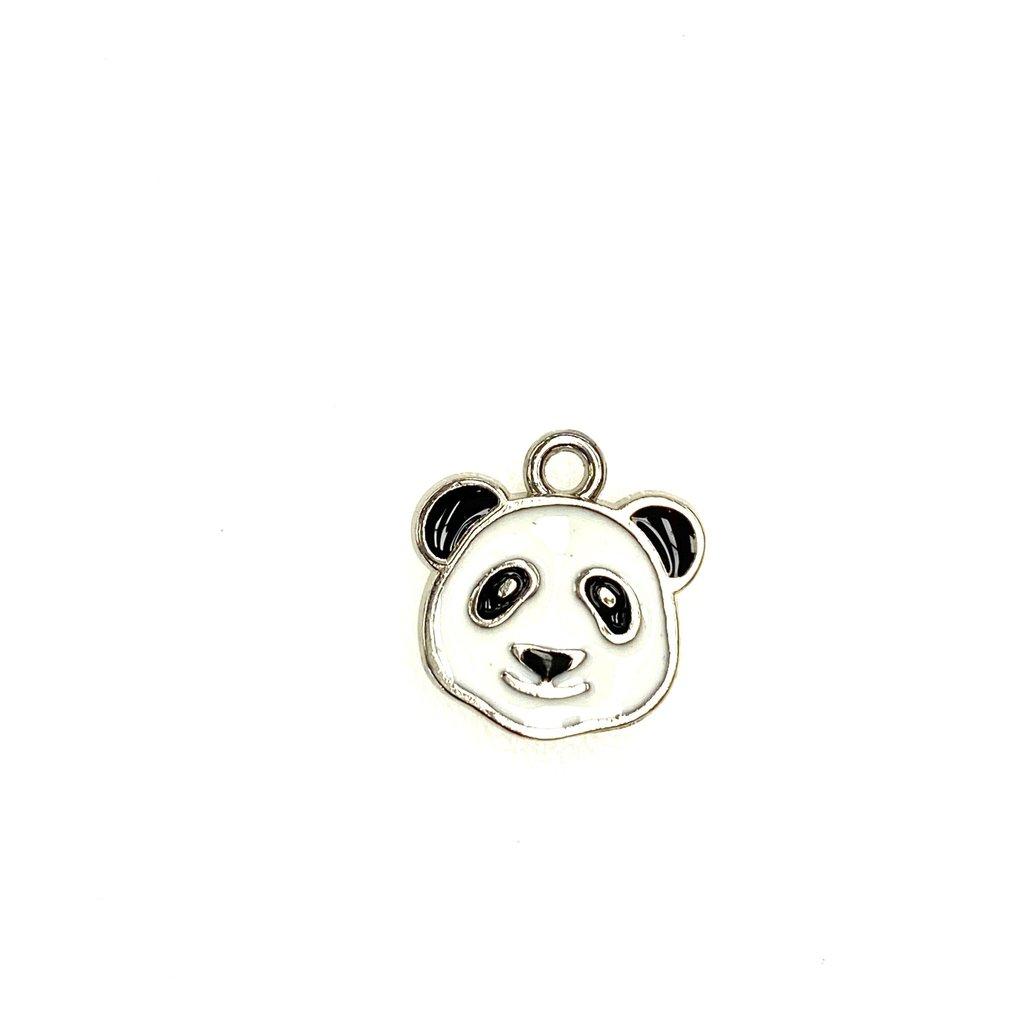 Bead World Panda Head Enamel -  14mm x 15mm 3pcs.