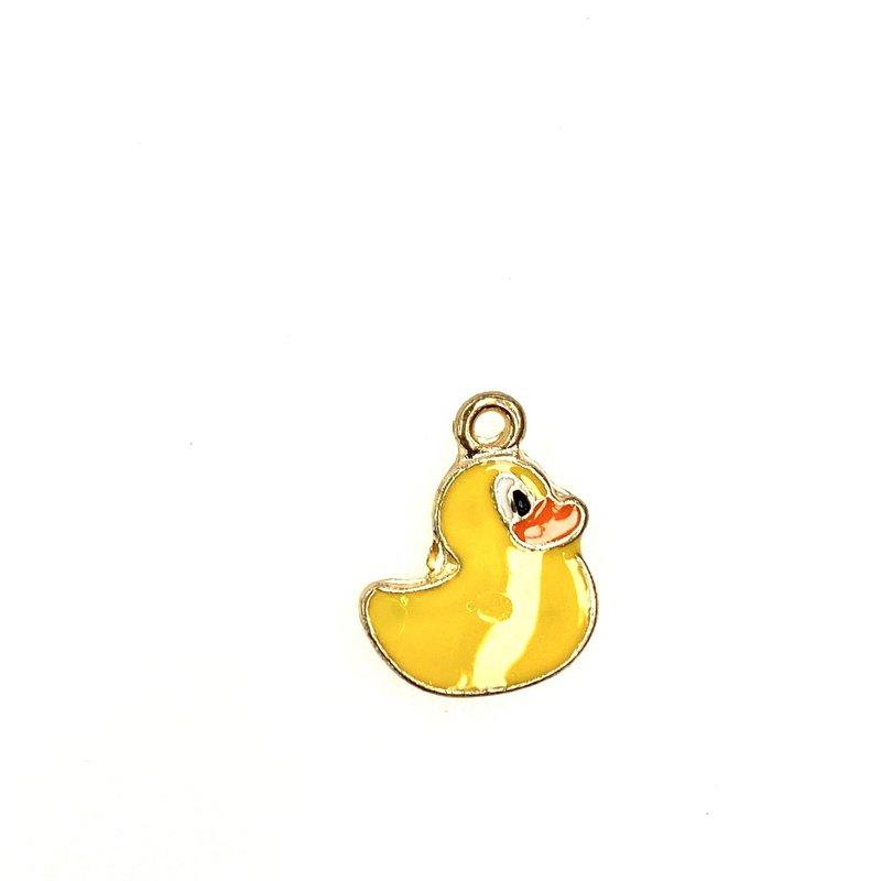 Bead World Rubber Duck Enamel -  14mm x 15mm 3pcs.