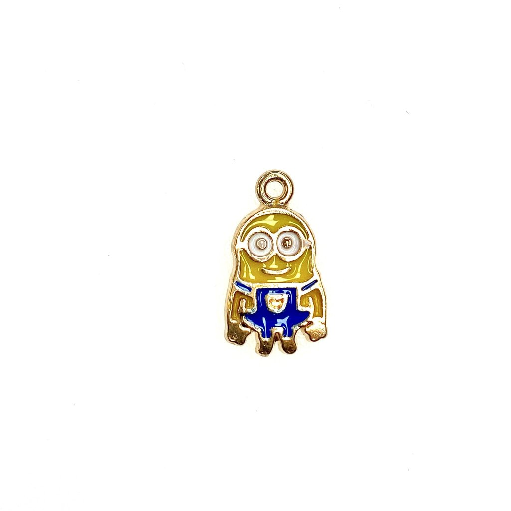 Bead World Minion Enamel -  10mm x 17mm 3pcs.
