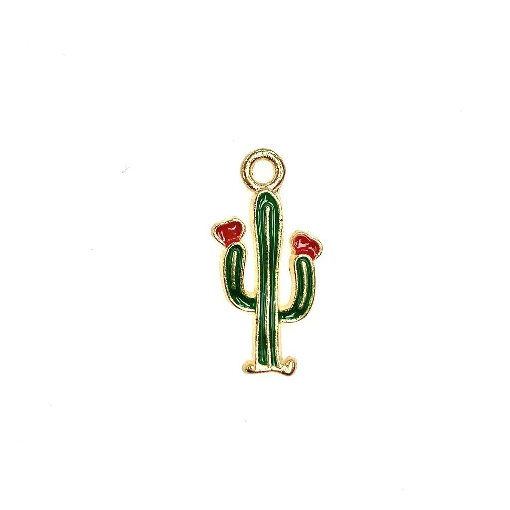 Bead World Cactus Enamel -  15mm x 20mm 3pcs.
