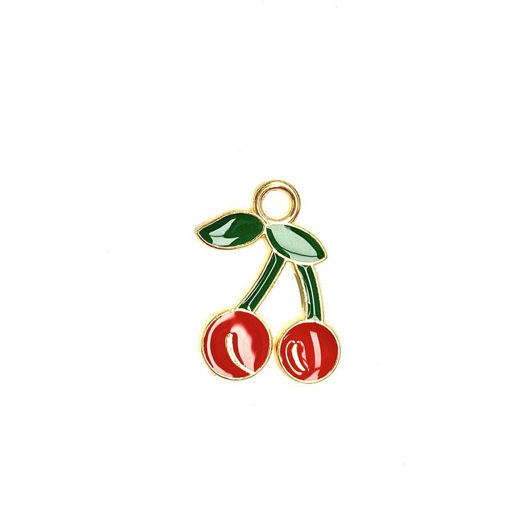 Bead World Cherries Enamel -Red  14mm x 18mm 3pcs.