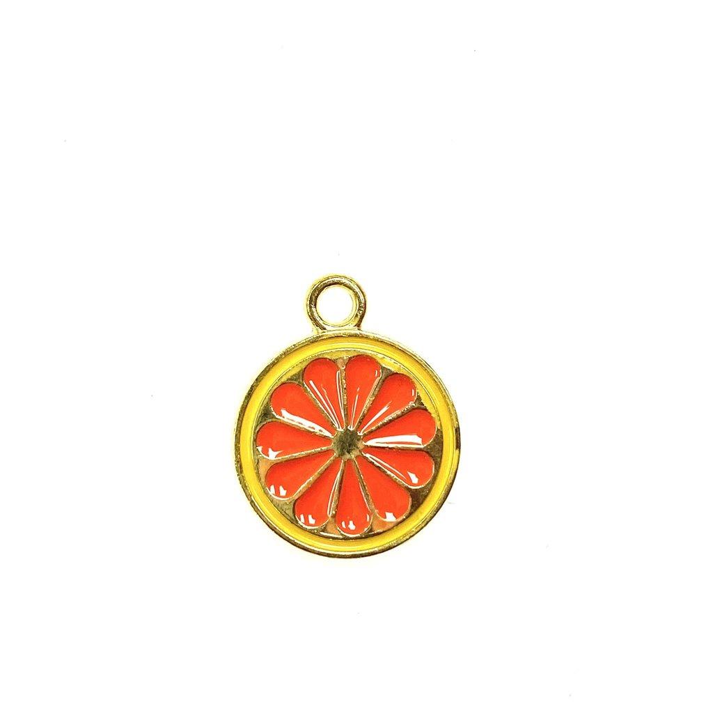 Bead World Grapefruit Enamel    15mm 3pcs.