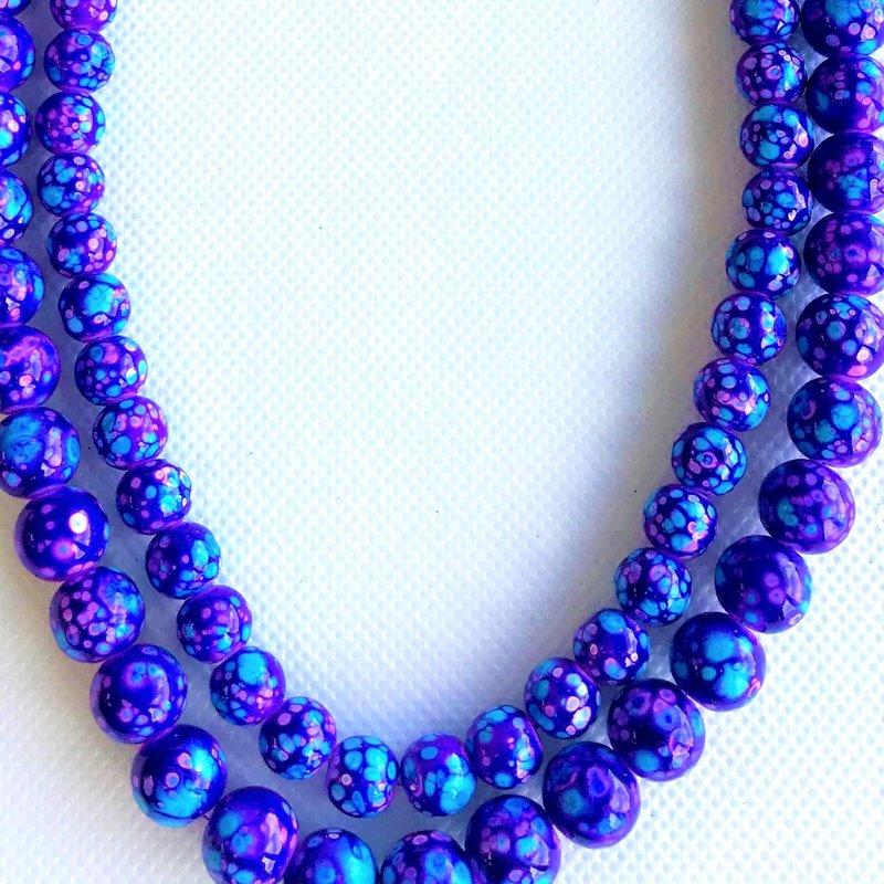 Bead World Decorative Glass Beads Blue/Purple