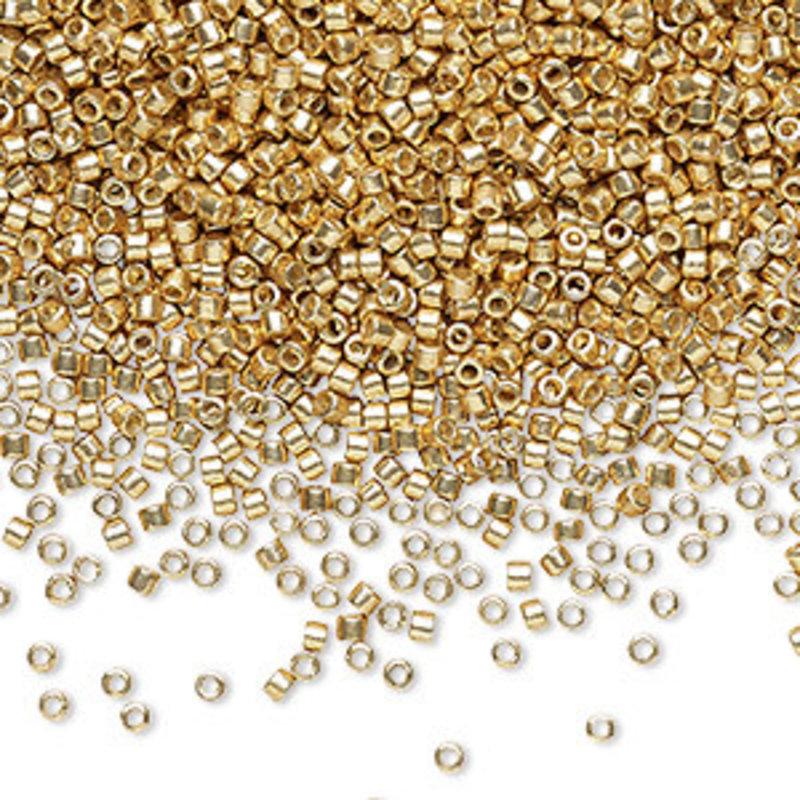 Miyuki Delica #11 Duracoat Opaque Galvanized Gold Db1832 7.5 Gram