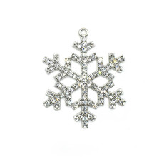 Bead World Snowflake White Crystal Charm 40mm x 40mm 1 pc.