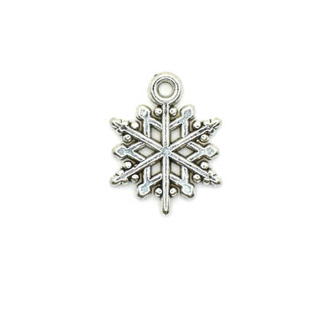 Bead World Snowflake Silver Small Charm 15mm x 15mm 3 pcs.