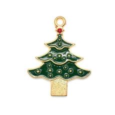 Bead World Christmas Tree Charm 25mm x 3mm 3 pcs.