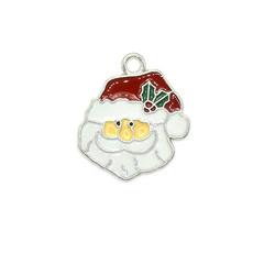 Bead World Santa Claus Head Charm 20mm x 20mm 3 pcs.