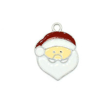 Bead World Santa Claus Head Charm 15mm x 20mm 3 pcs.