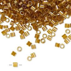 Miyuki Delica #8 Col-Lined Topaz Yellow A1935 7.5 gram vial