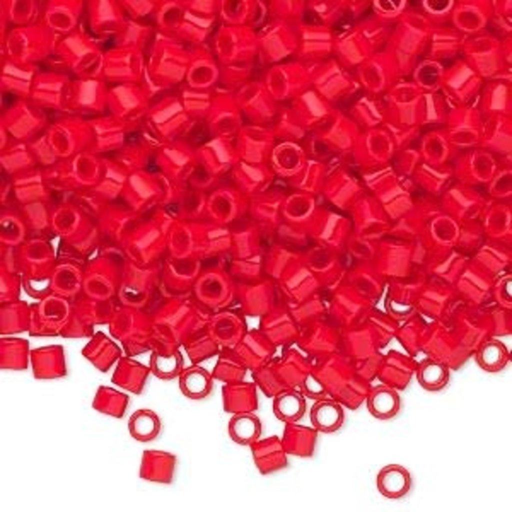Miyuki Delica #8 Opaque Red  A9895 7.5 gram vial