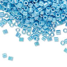 Miyuki Delica #8 Opaque Rainbow Turq Blue A1953 7.5 gram vial