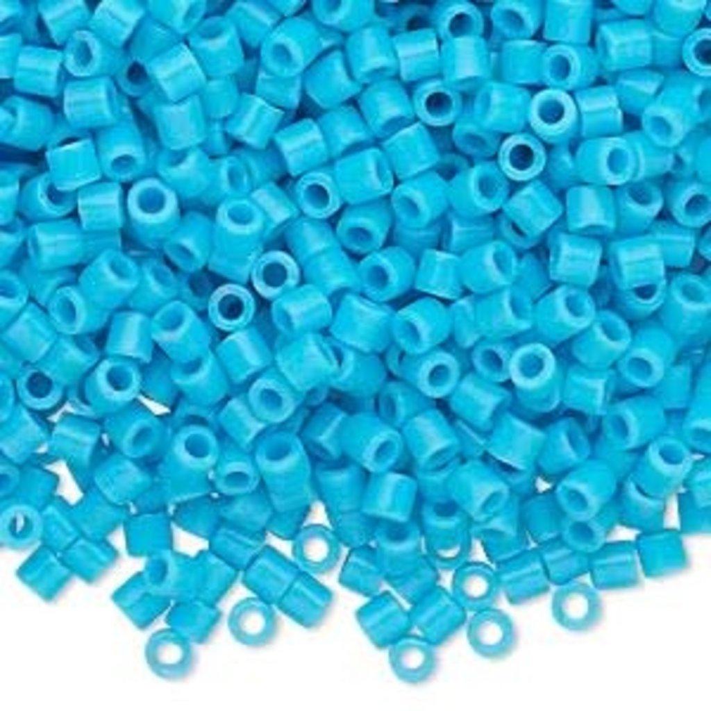 Miyuki Delica #8 Opaque Turquoise Blue 9910 7.5 gram vial
