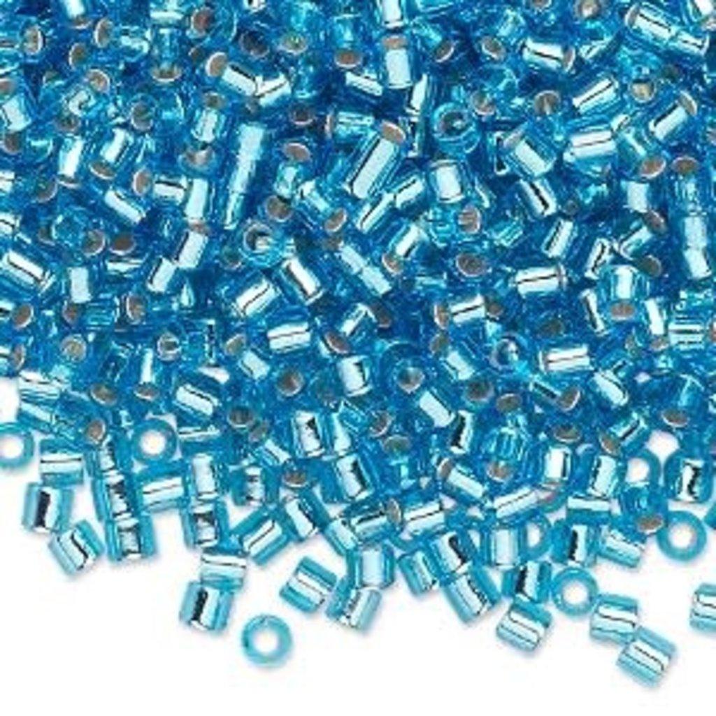 Miyuki Delica #8 Silver-Lined Aqua 9861 7.5 gram vial