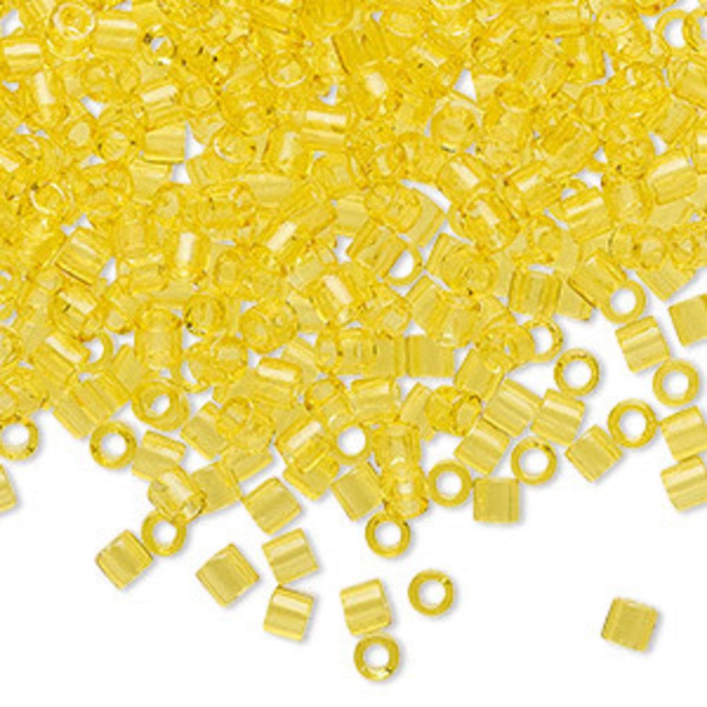 Miyuki Delica #8 Transparent Yellow A3256 7.5 gram vial
