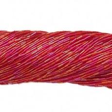 Preciosa Czech Bugle Bead #3 Transparent  Rainbow Red/ Hank