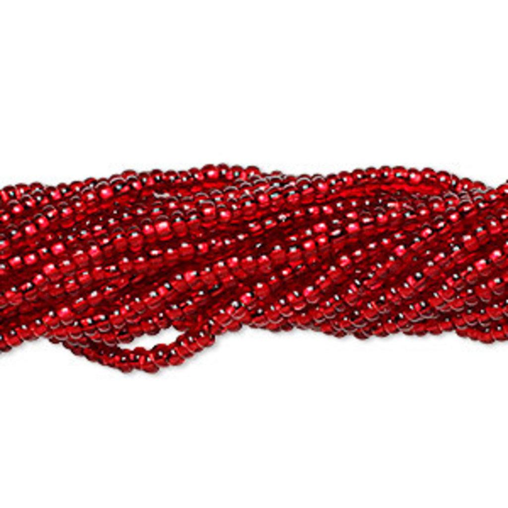 Preciosa Sb#11 Silver-Lined Square hole Ruby Red/Hank