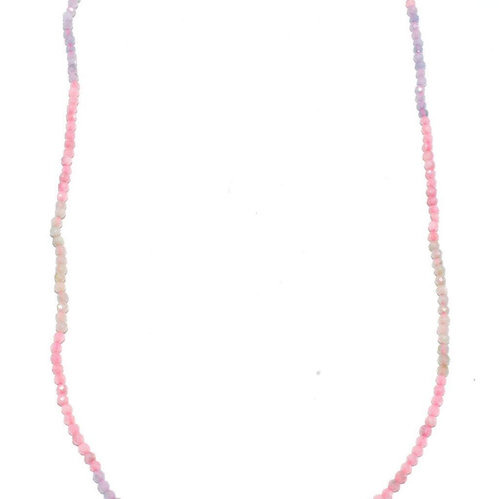 """Bead World Morganite Faceted 16"""" Strand"""