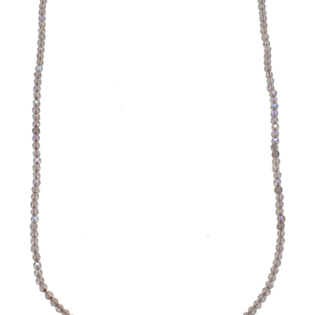 """Bead World Ice Crystal Faceted 16"""" Strand"""