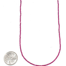 """Bead World Ruby Faceted 16"""" Strand"""