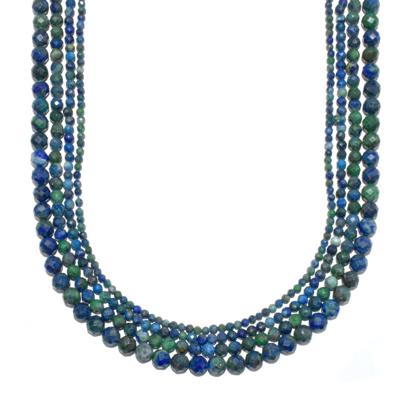"Bead World Azurite Faceted 16"" Strand"