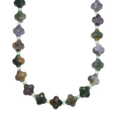 """Bead World Agate Faceted -Clover Shape 12mm  16"""" Strand"""