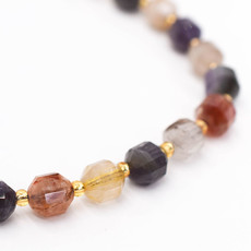 """Bead World Aurora Crystal  7mm x8mm  16"""" Strand Faceted"""
