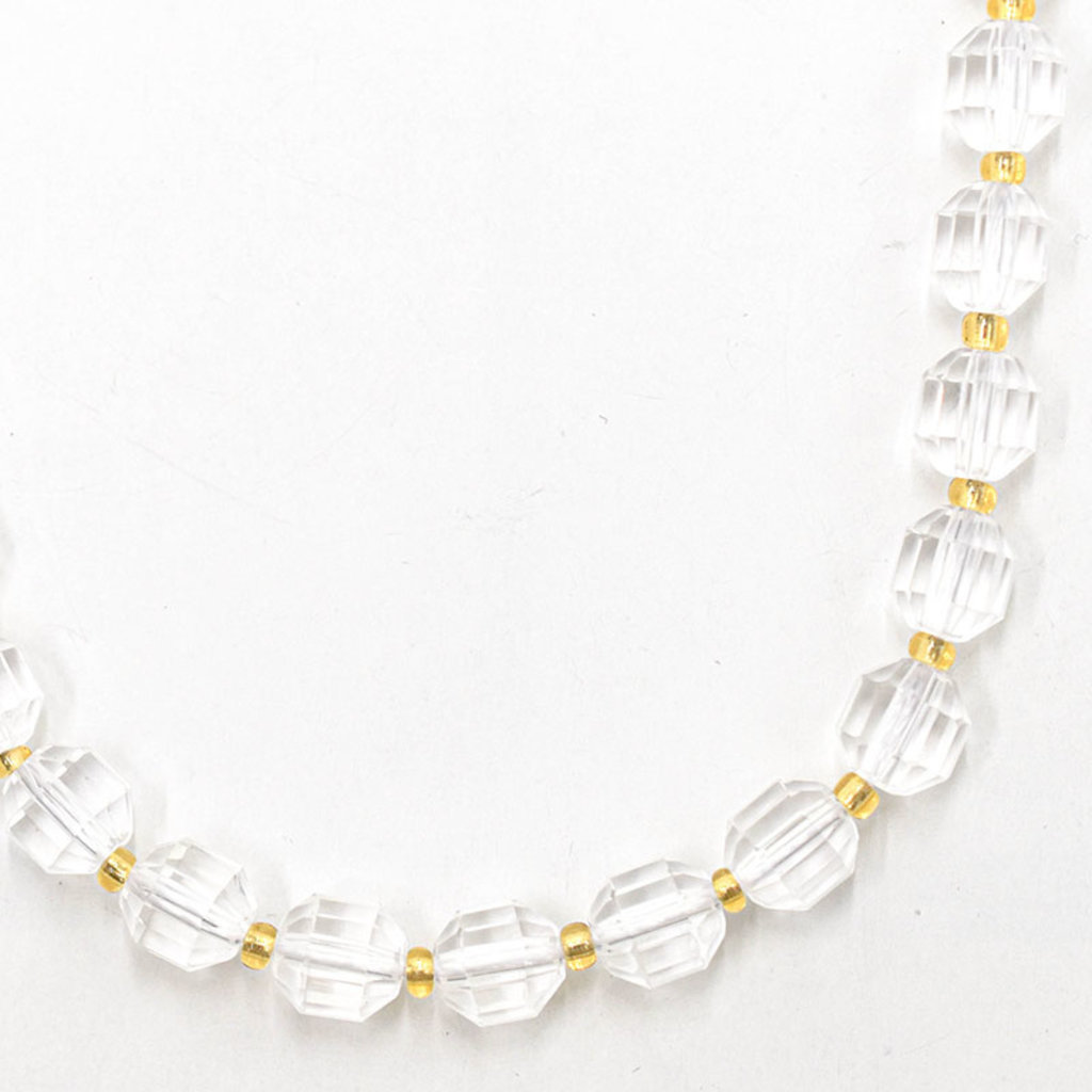 """Bead World Crystal  7mm x8mm  16"""" Strand Faceted"""