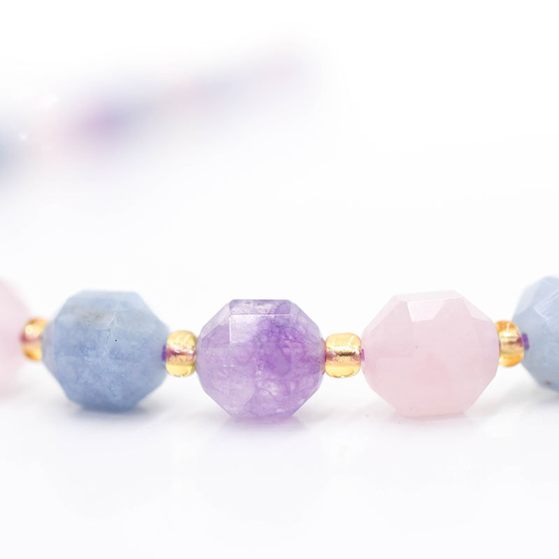 """Bead World Dream Lavender 7mm x8mm  16"""" Strand Faceted"""
