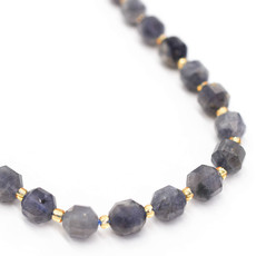 """Bead World Iolite  7mm x8mm  16"""" Strand Faceted"""