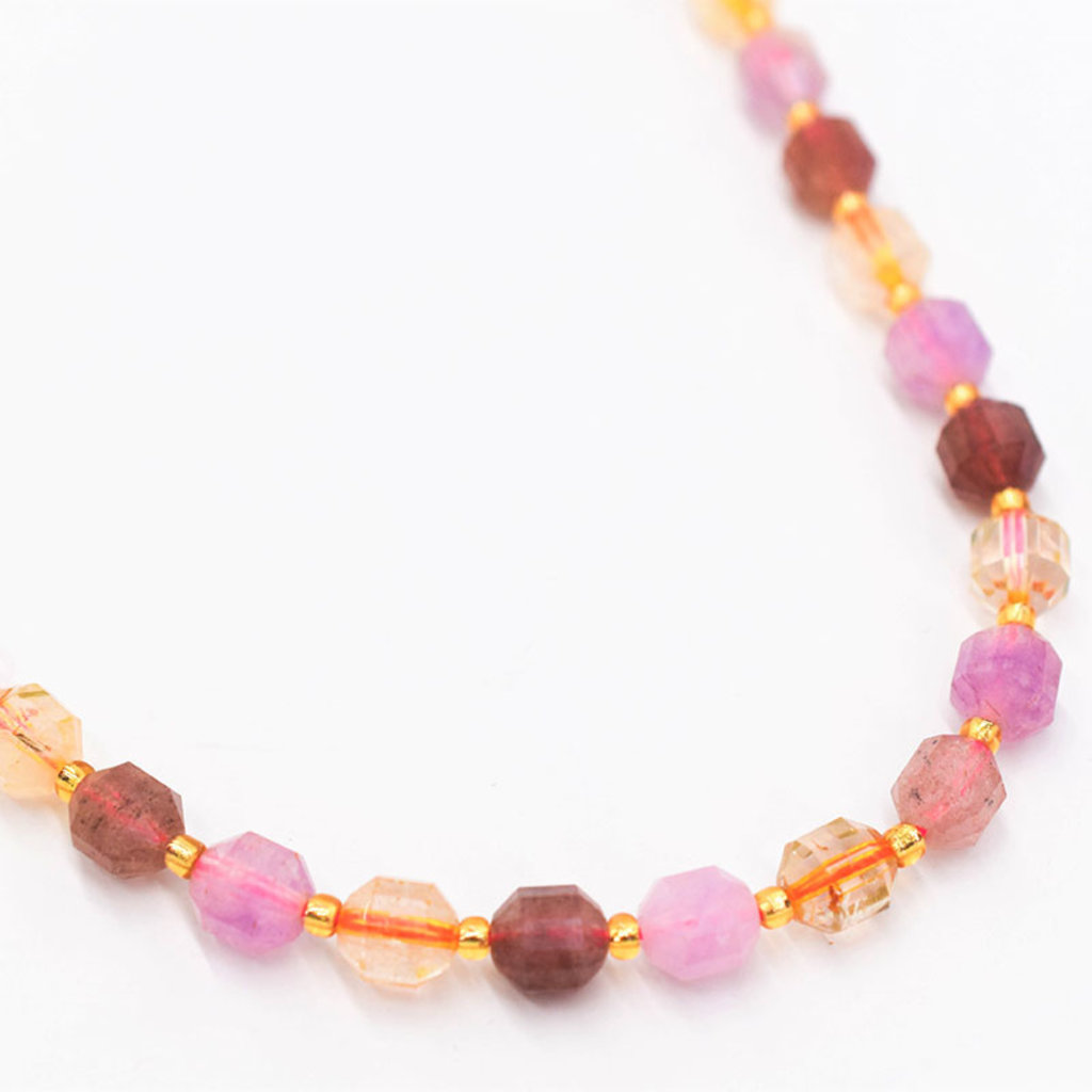 """Bead World Super 7 Stone  7mm x8mm  16"""" Strand Faceted"""