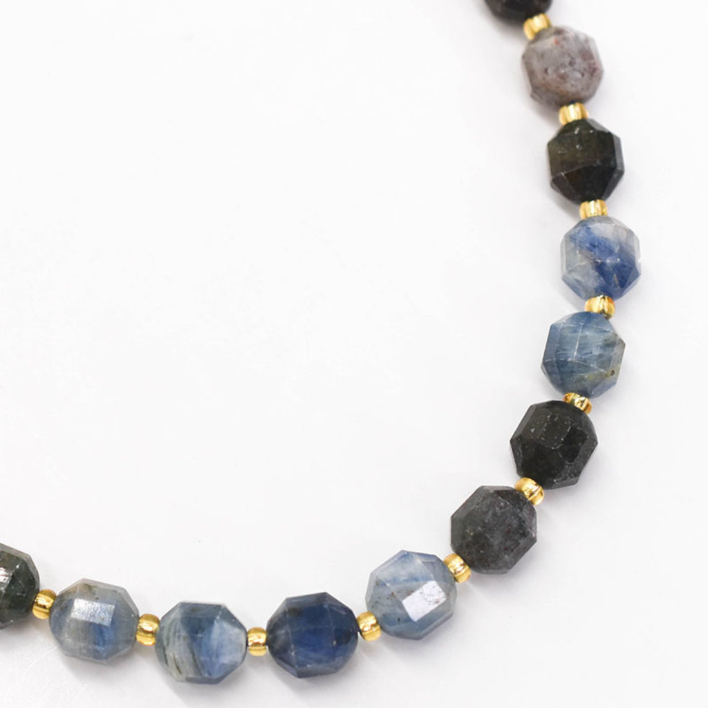 """Bead World Kyanite  7mm x8mm  16"""" Strand Faceted"""