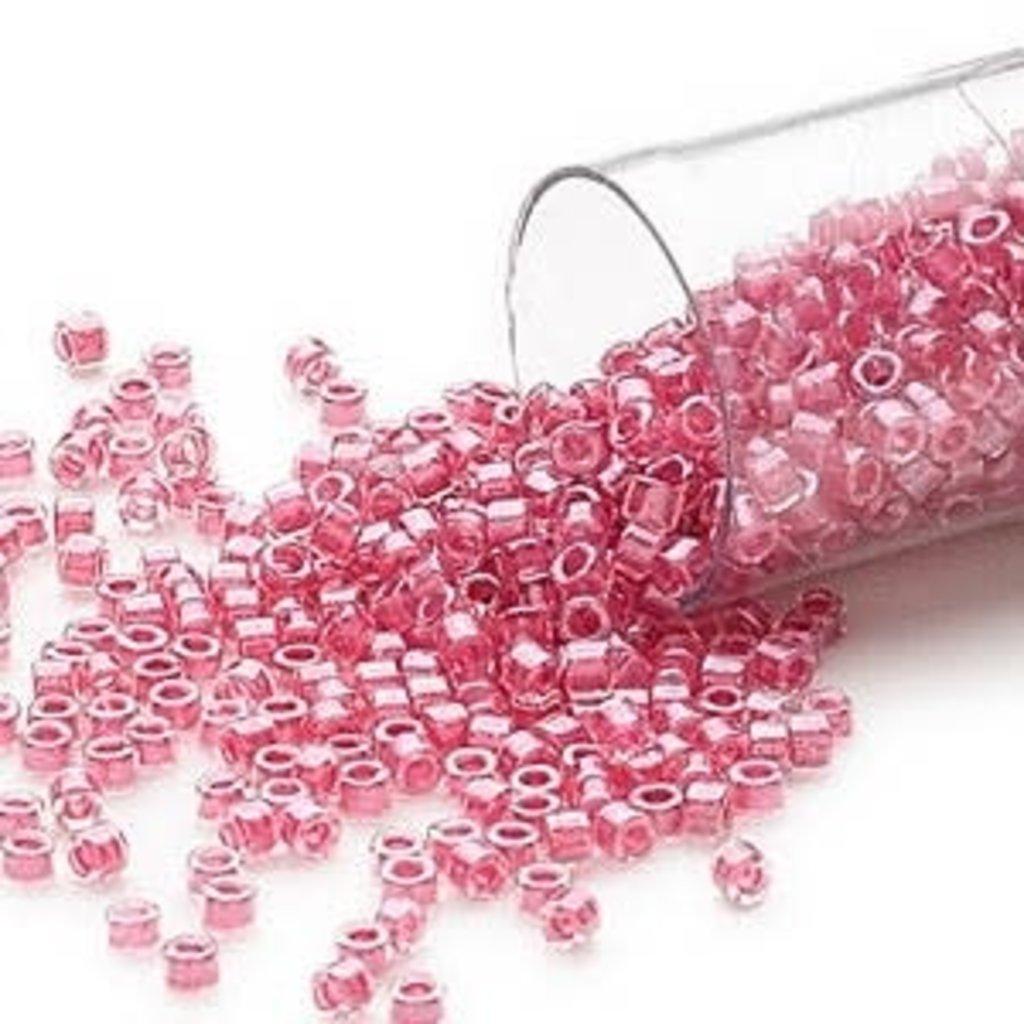 Miyuki Delica #11 Color-Lined Pink Lipstick Db0914