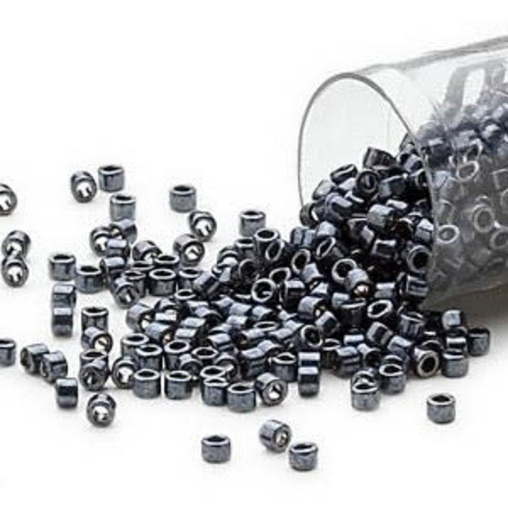 Miyuki Delica #11 Opaque Nickel Finished Hematite DB0453 7.5 gram vial