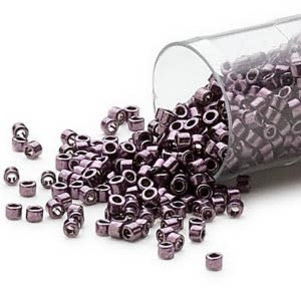Miyuki Delica #11 Opaque Nickel Light Purple DB0455 7.5 gram vial