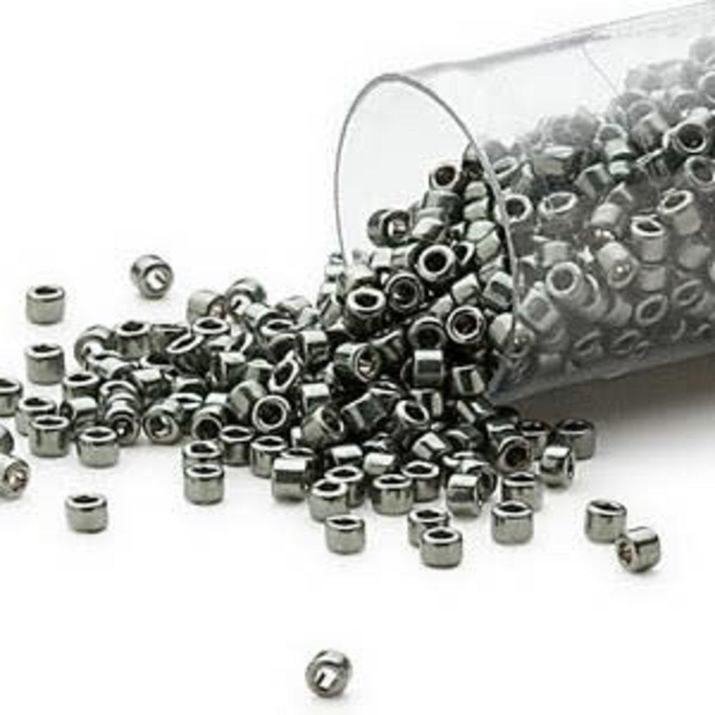 Miyuki Delica #11 Opaque Nickel Finished Silver Grey DB0457 7.5 gram vial