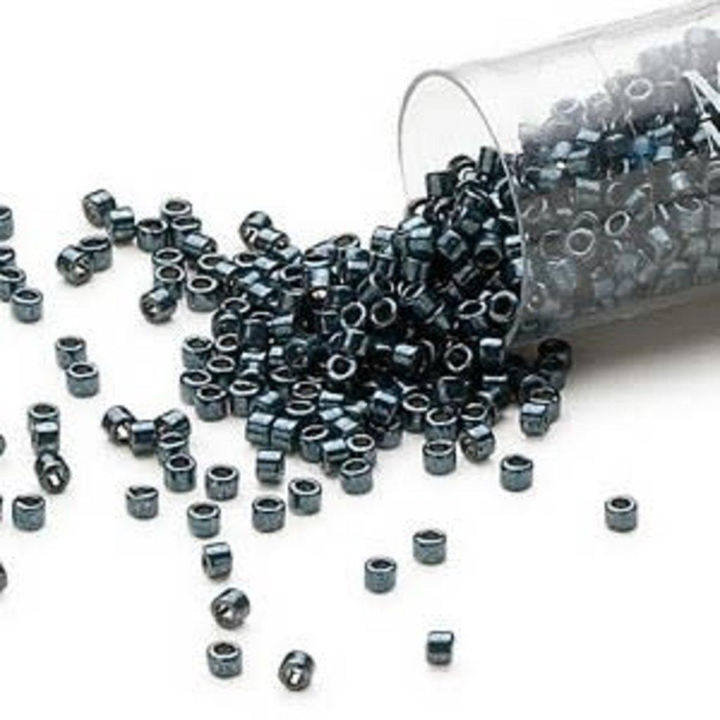 Miyuki Delica #11 Opaque Nickel Finished Silver Teal DB0465 7.5 gram vial