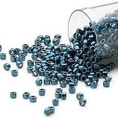 Miyuki Delica #11 Opaque Nickel Finished Teal DB0459 7.5 gram vial