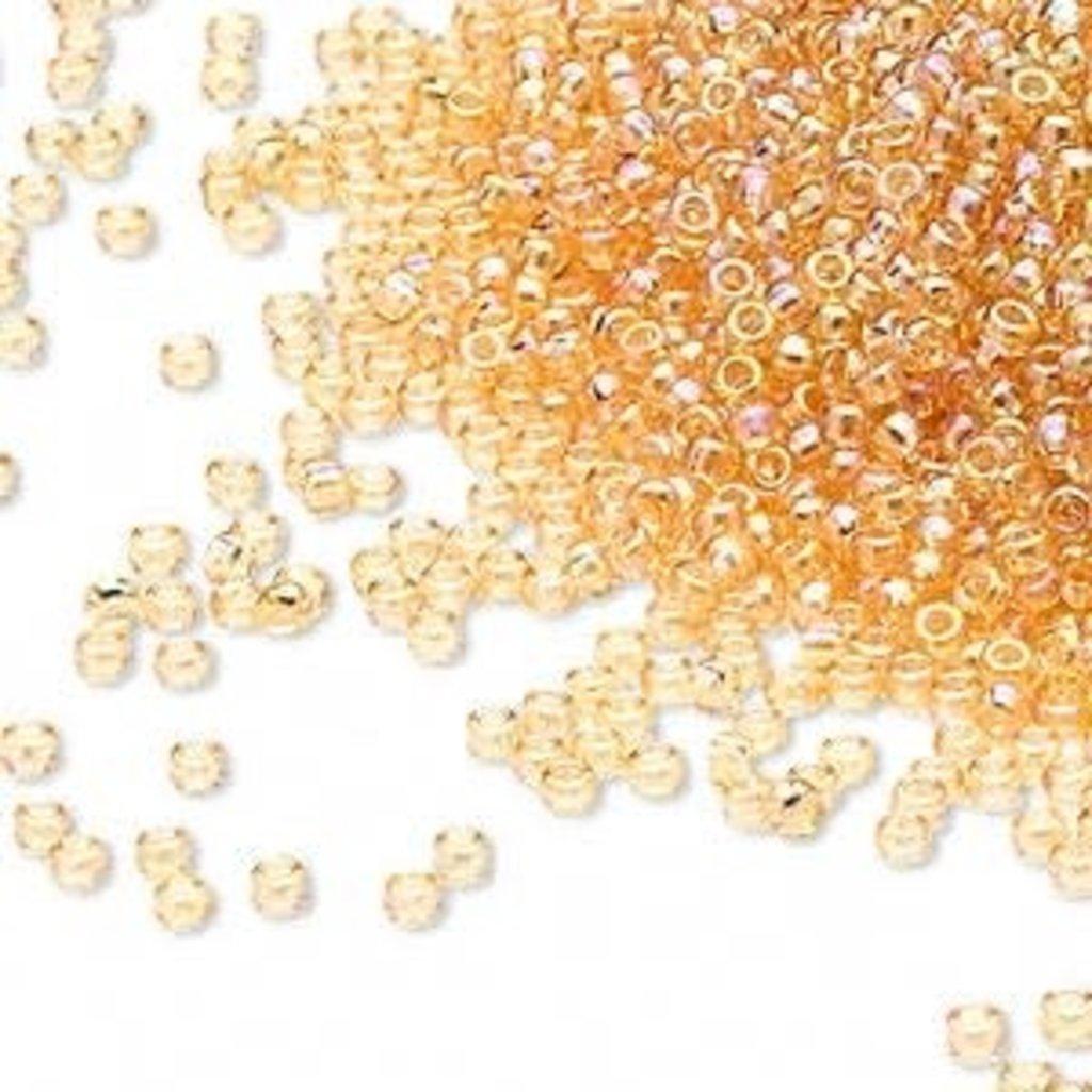 Miyuki #15 Rocaille Seed Bead Transparent Rainbow Light Gold 35 Grams