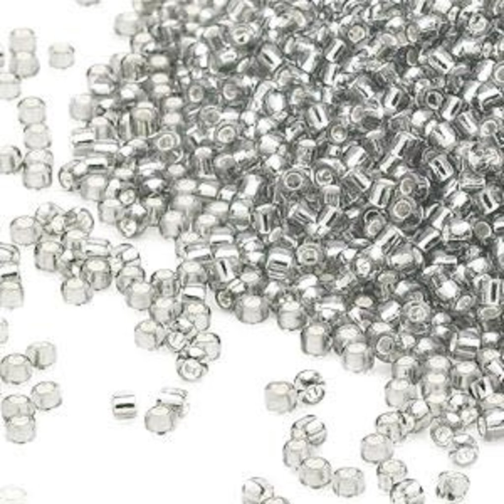 Miyuki #15 Rocaille Seed Bead Transparent Silver-lined Clear 35 Grams